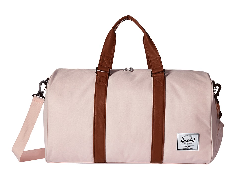 Herschel Supply Co. - Novel (Cloud Pink/Tan Synthetic Leather) Duffel Bags