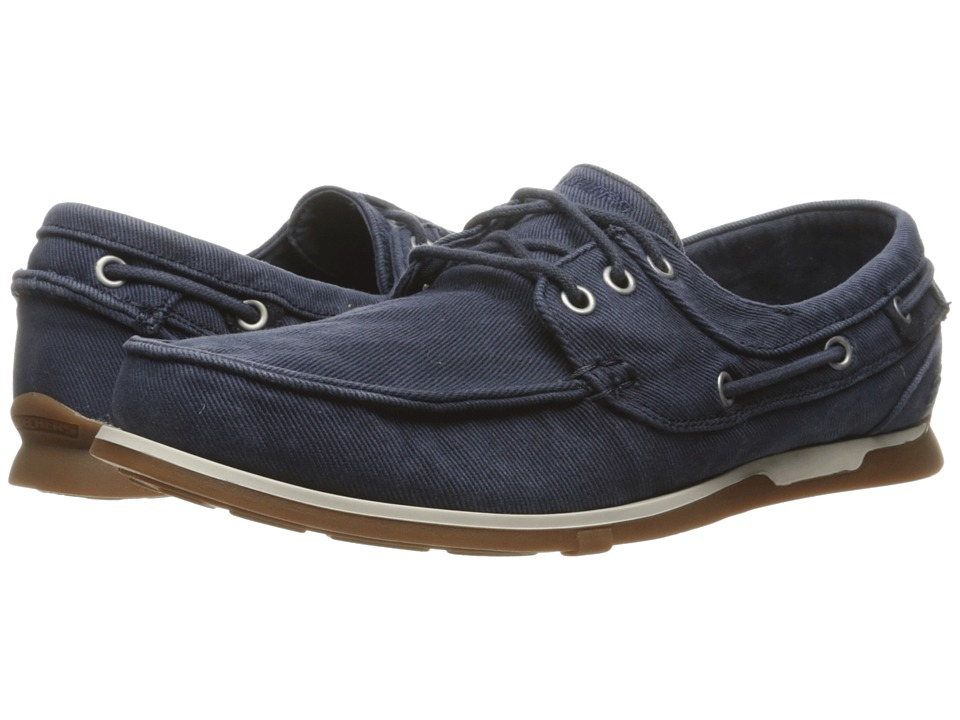 SKECHERS Relaxed Fit Eris Inaldo (Navy Canvas) Men