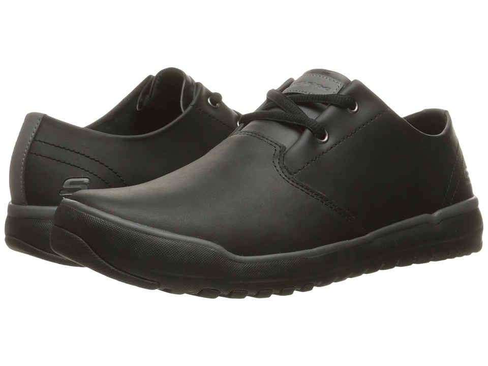 SKECHERS - Relaxed Fit Oldis - Volaro (Black Leather) Men