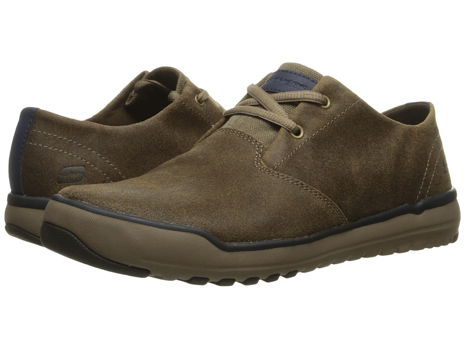 SKECHERS - Relaxed Fit Oldis - Volaro (Brown Leather) Men's Shoes