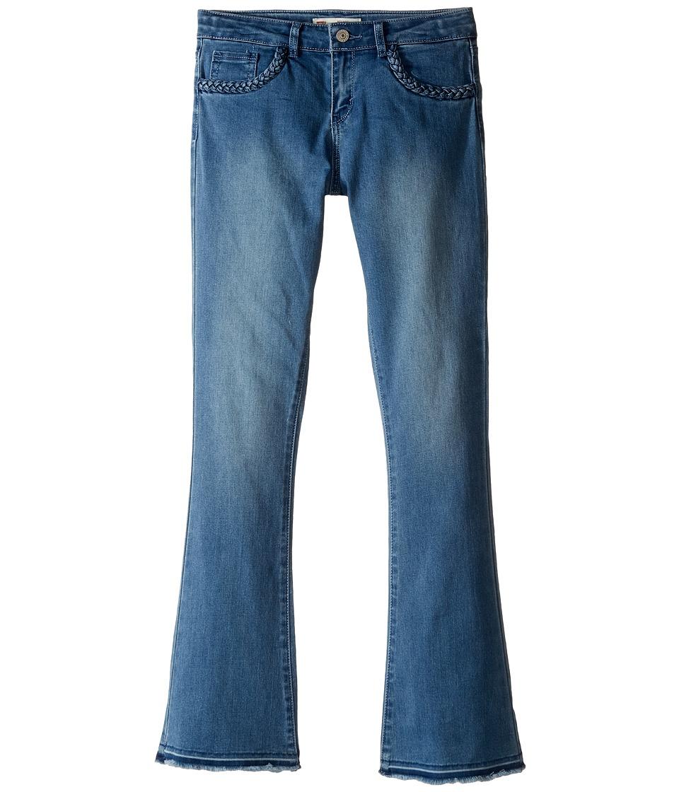 Levi's(r) Kids - Mid-Rise Boho Flare Jeans (Big Kids) (Clean Blue) Girl's Jeans