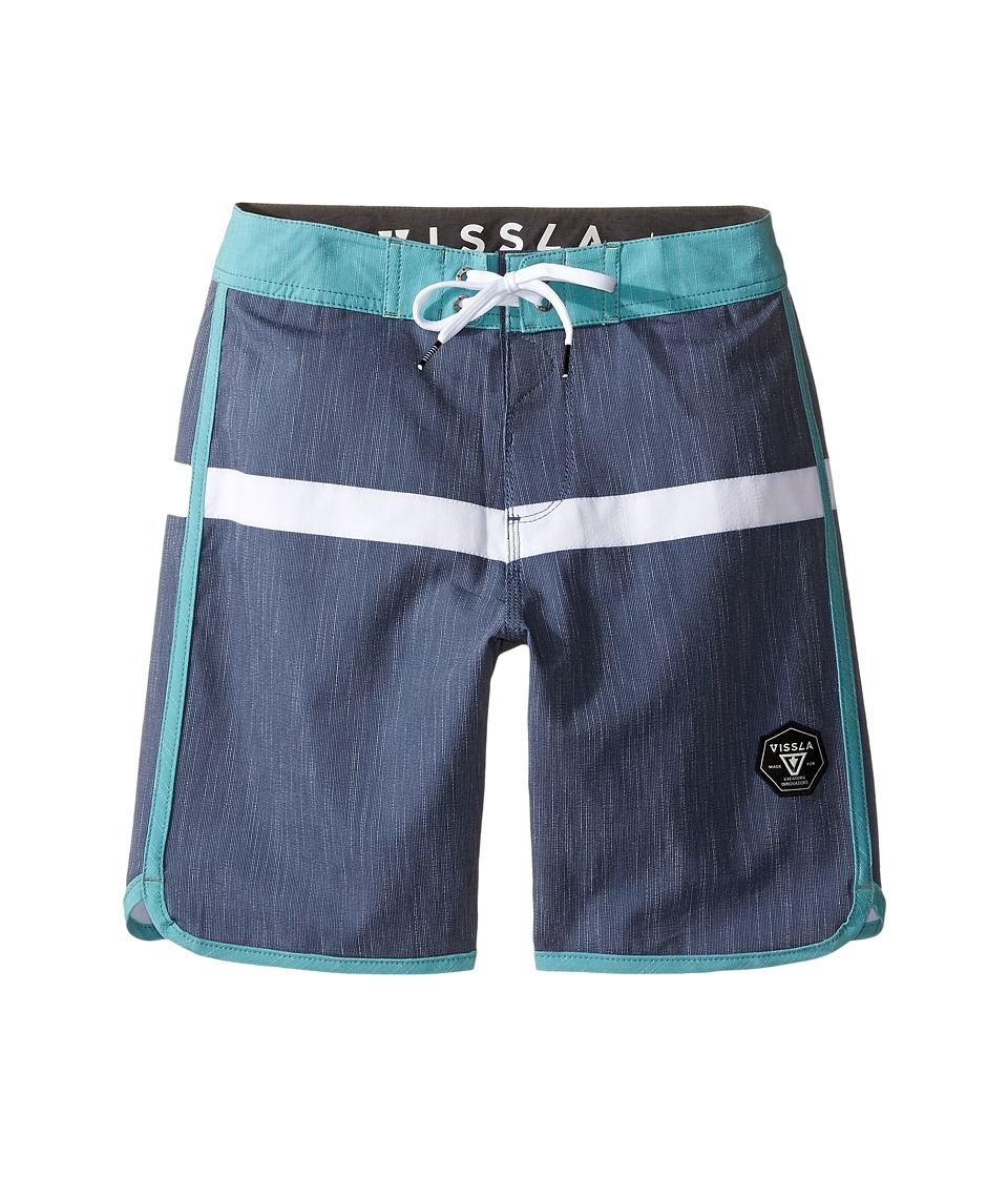 VISSLA Kids Dredges 4-Way Stretch Boardshorts 17 (Big Kids) (Dark Navy) Boy