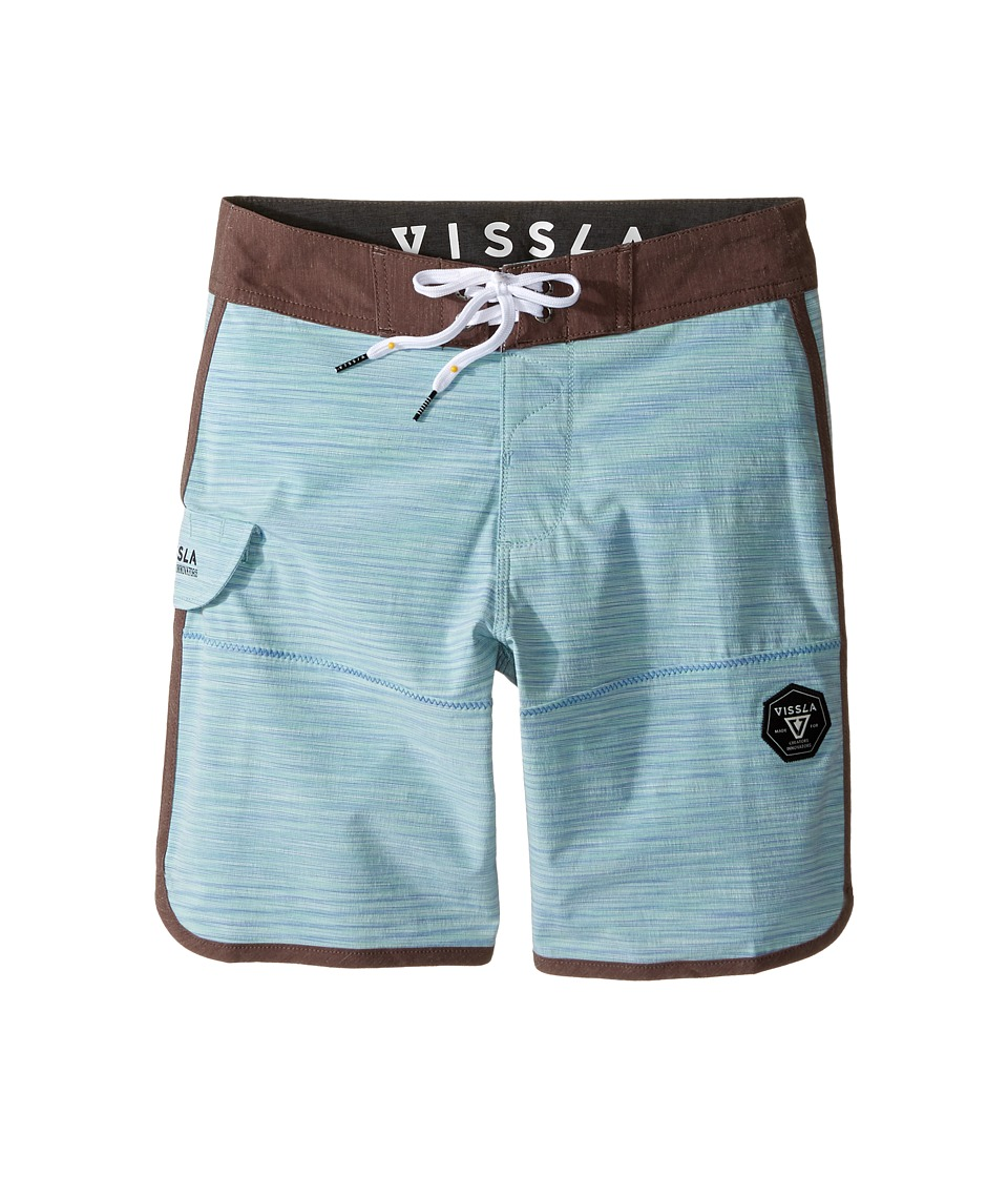 VISSLA Kids Spaced Diver 4-Way Stretch Space Dye Boardshorts 17 (Big Kids) (Royal Wash) Boy