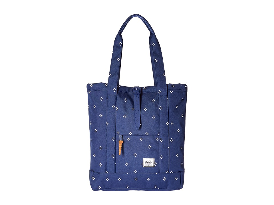 Herschel Supply Co. - Market (Focus/Twilight Blue Rubber) Tote Handbags