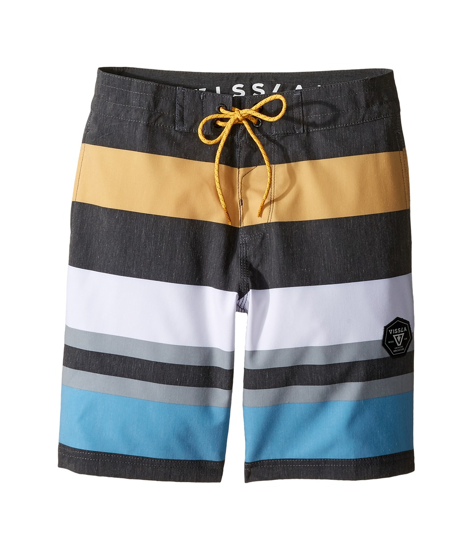 VISSLA Kids - Kooktown 4-Way Stretch Boardshorts 17 (Big Kids) (Phantom) Boy's Swimwear