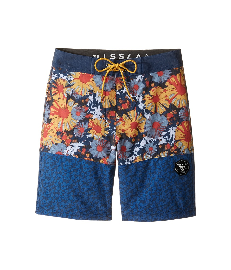 VISSLA Kids - Sundaze 4-Way Stretch Boardshorts 17 (Big Kids) (Dark Navy) Boy's Swimwear