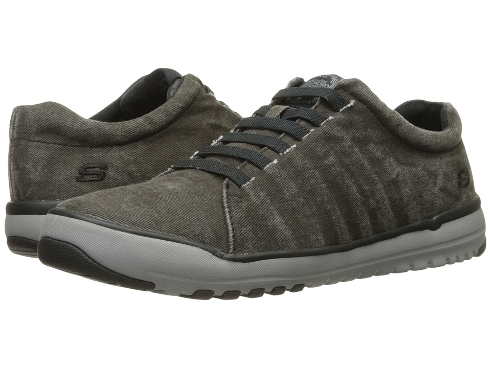 SKECHERS - Relaxed Fit Olis - Solando (Black) Men's Lace up casual Shoes