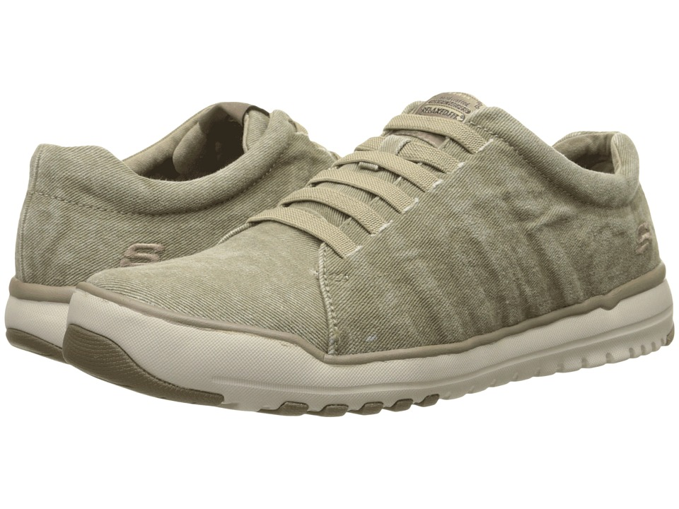 SKECHERS - Relaxed Fit Olis - Solando (Sand) Men's Lace up casual Shoes
