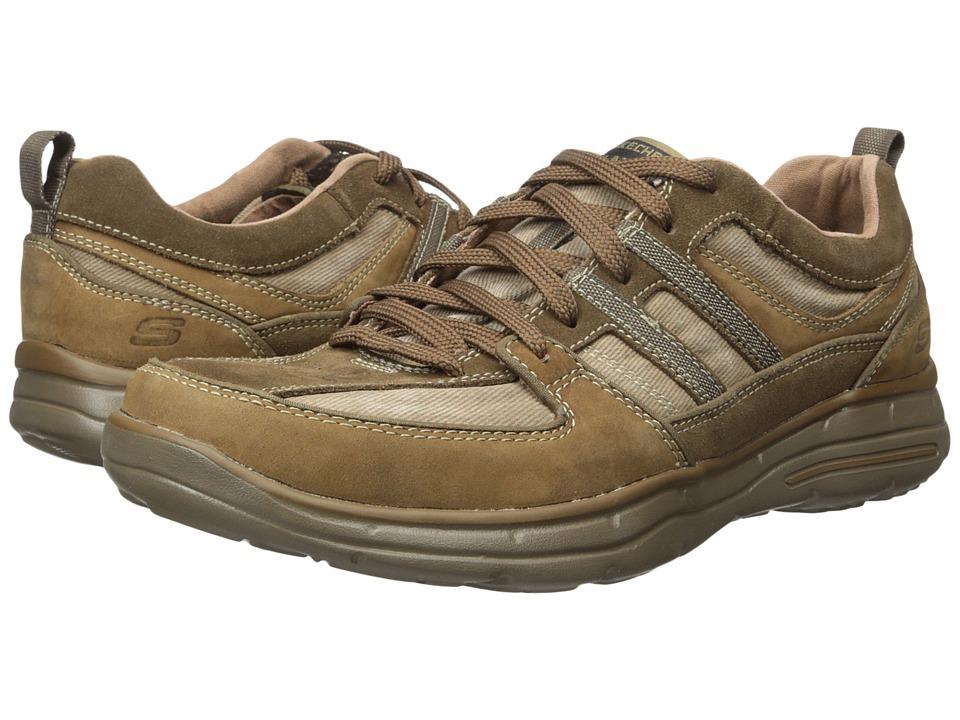 SKECHERS - Relaxed Fit Glides - Soman (Desert Brown) Men's Shoes