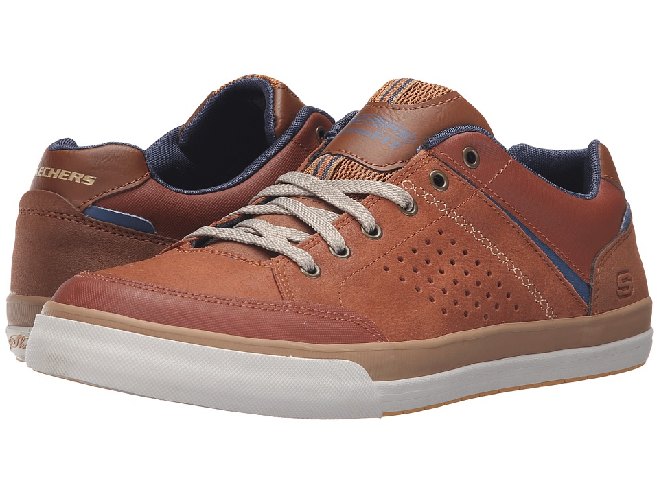 SKECHERS - Relaxed Fit Diamondback - Rendol (Luggage) Men's Lace up casual Shoes