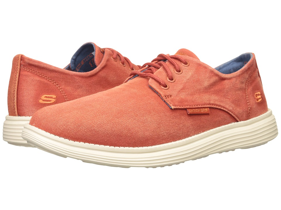 SKECHERS - Relaxed Fit Status - Borges (Red) Men's Lace up casual Shoes