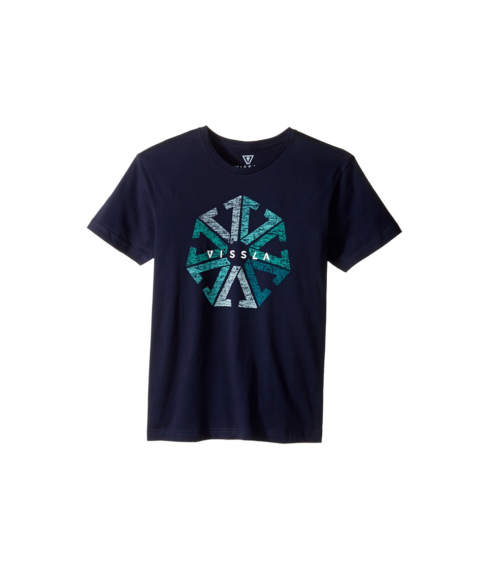VISSLA Kids - Around Everyday Cotton Tee (Big Kids) (Navy) Boy's T Shirt