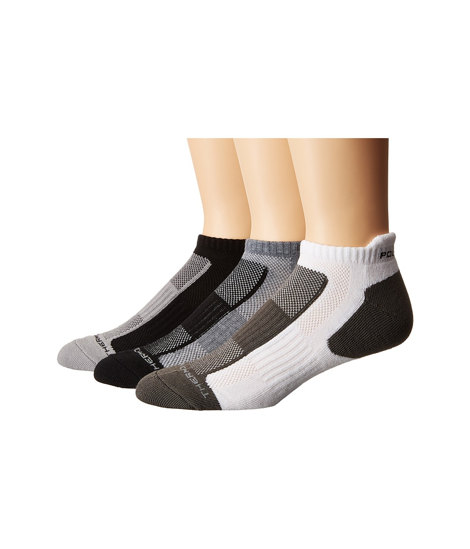 Polo Ralph Lauren - 3-pack Color Block Low Cut Tab Socks (Black) Men's Low Cut Socks Shoes