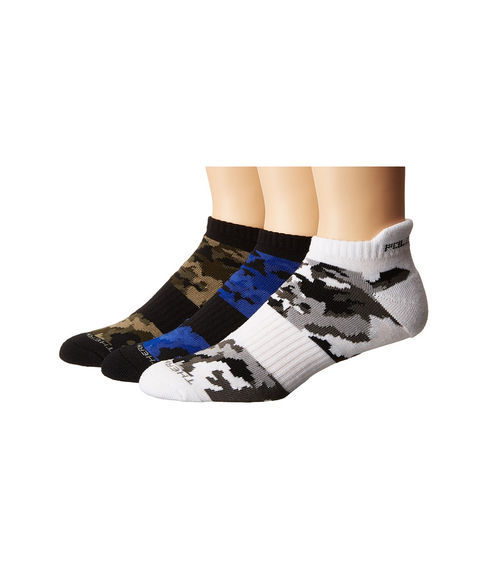 Polo Ralph Lauren - Camo Tip Ped (Black) Men's Crew Cut Socks Shoes