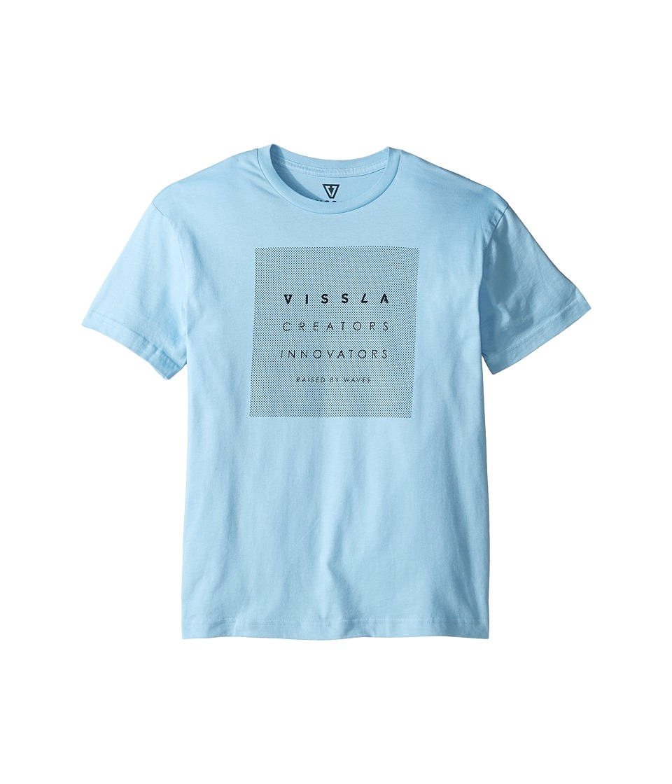 VISSLA Kids - Dazed Everyday Cotton Tee (Big Kids) (Light Blue) Boy's T Shirt