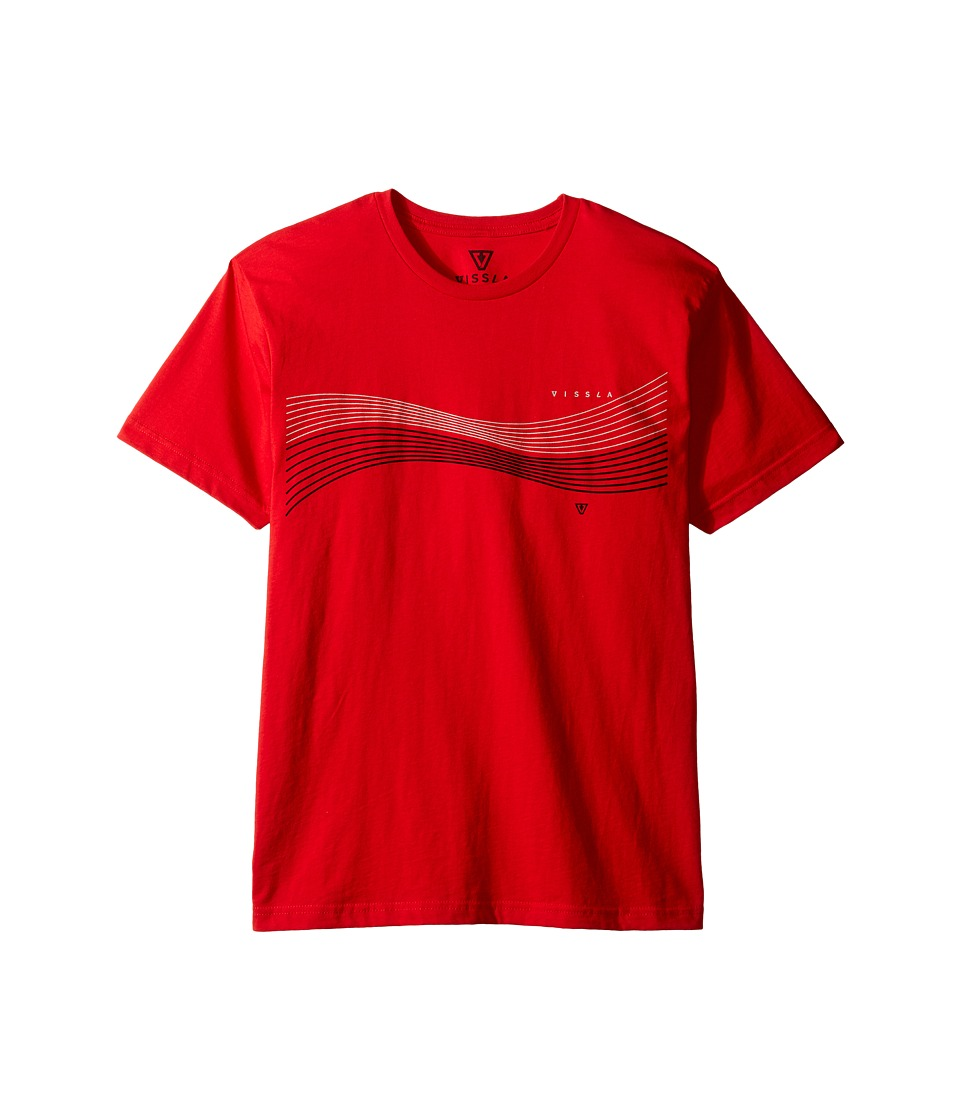VISSLA Kids - Double Vision Everyday Cotton Tee (Big Kids) (Red) Boy's T Shirt