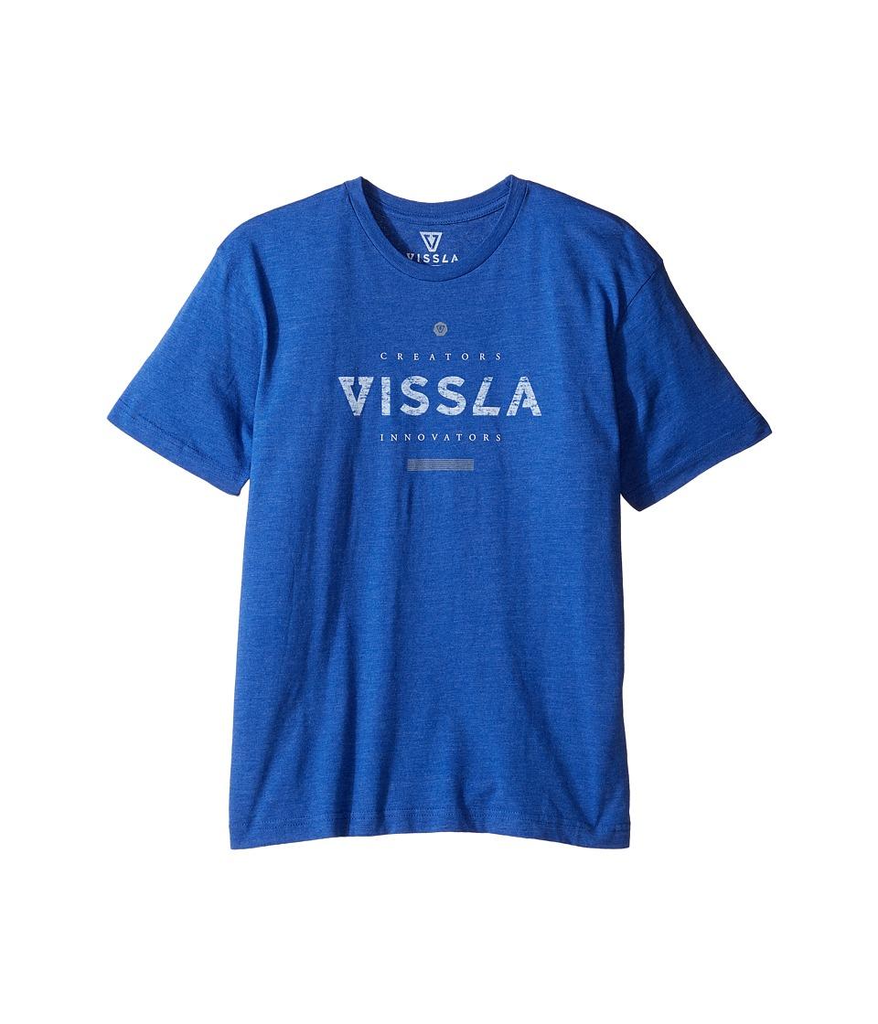 VISSLA Kids - Curved Everyday Heathered Tee (Big Kids) (Royal Heather) Boy's T Shirt