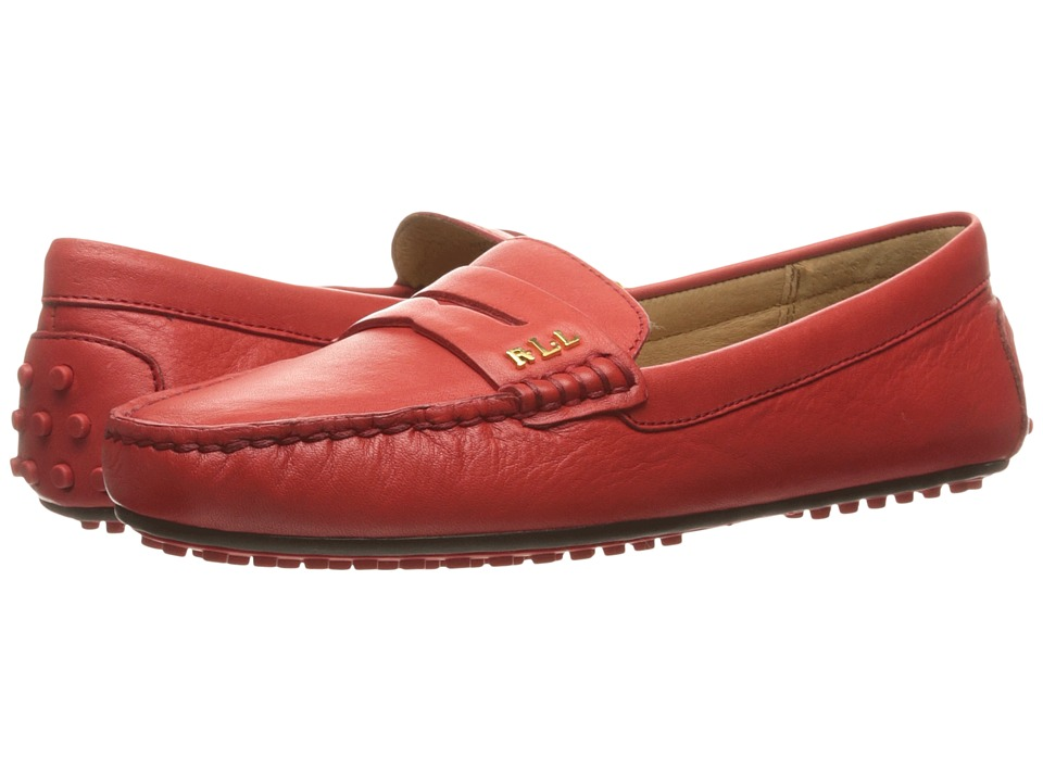 LAUREN Ralph Lauren - Belen (Fiery Red Super Soft Leather) Women's Shoes