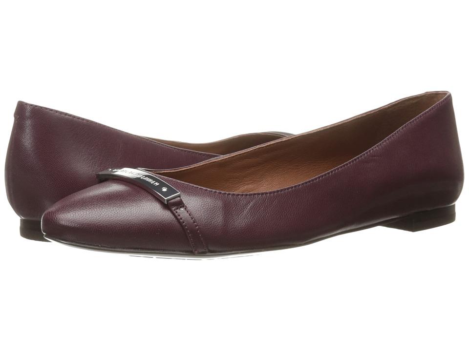 LAUREN Ralph Lauren Farrel Claret Kidskin Womens Shoes