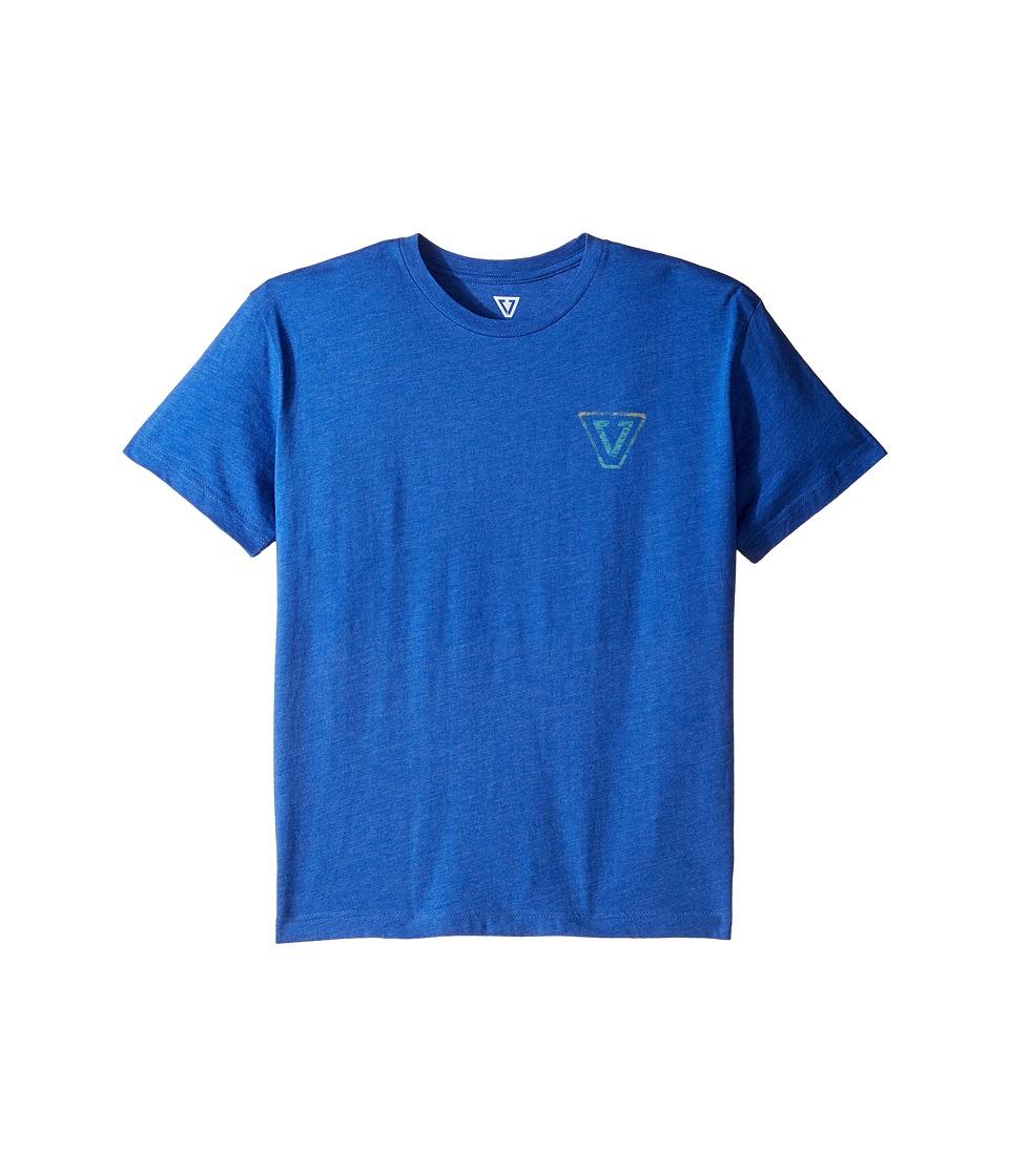 VISSLA Kids - Reverse Gradient Everyday Heathered Tee (Big Kids) (Royal Heather) Boy's T Shirt