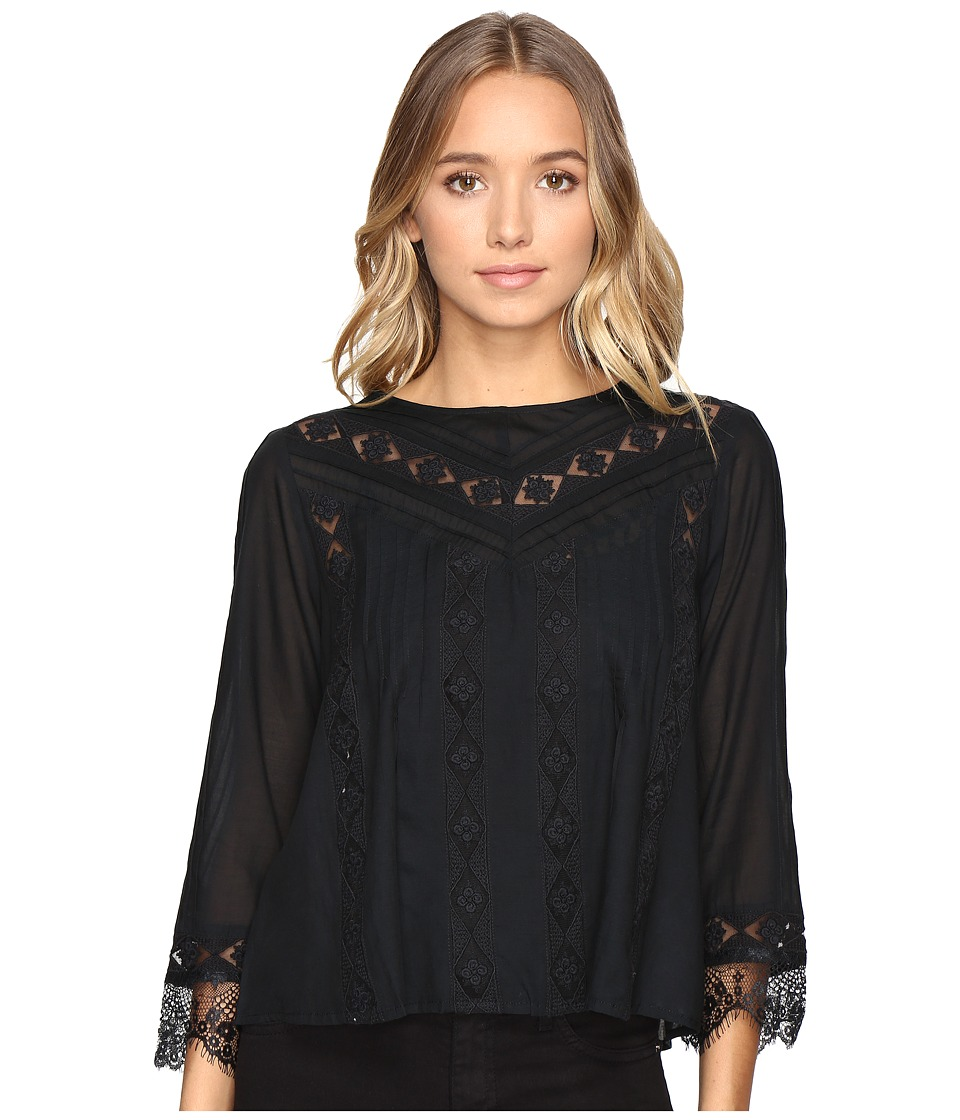 Amuse Society - Cherish Woven Top (Black) Women's Clothing