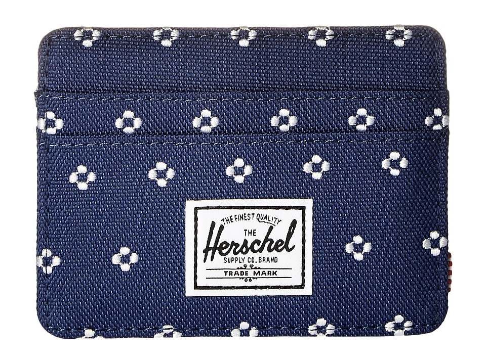 Herschel Supply Co. - Charlie (Twilight Blue/White Dots) Credit card Wallet