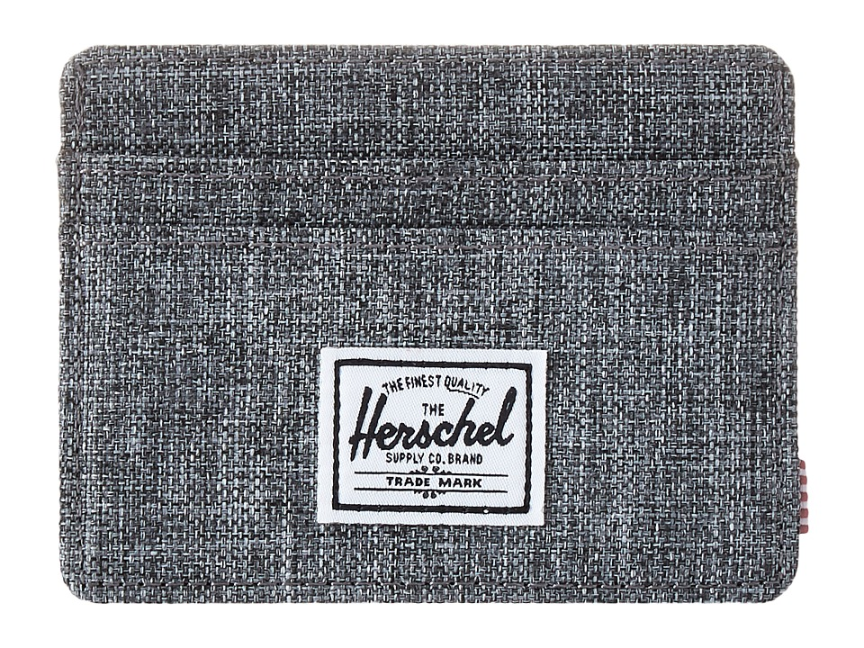 Herschel Supply Co. - Charlie (Raven Crosshatch) Credit card Wallet