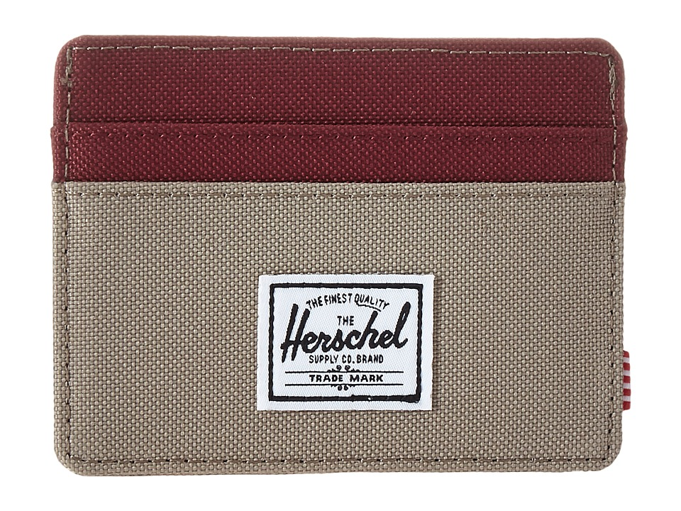Herschel Supply Co. - Charlie (Brindle/Windsor Wine) Credit card Wallet
