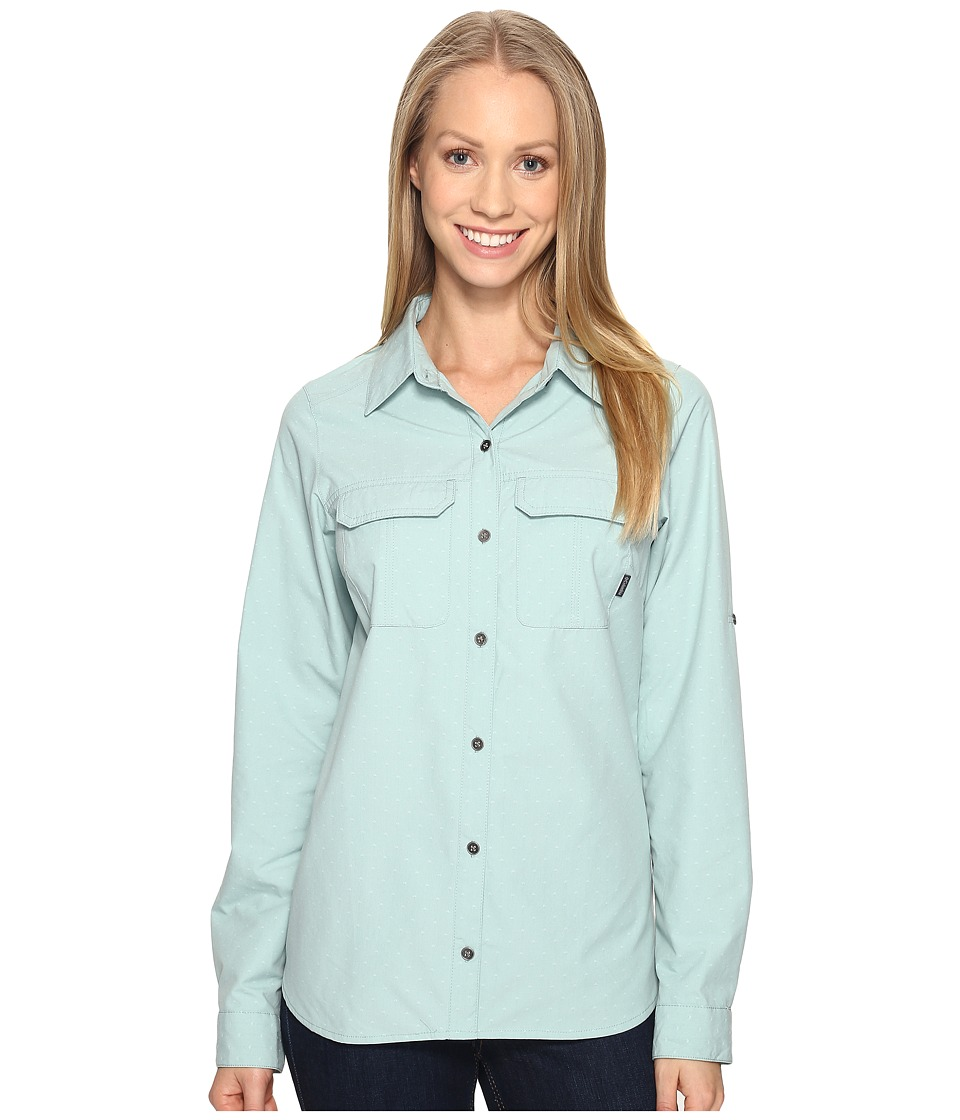 Columbia - Pilsner Peaktm Stripe Long Sleeve Shirt (Dusty Green Dobby) Women's Long Sleeve Button Up