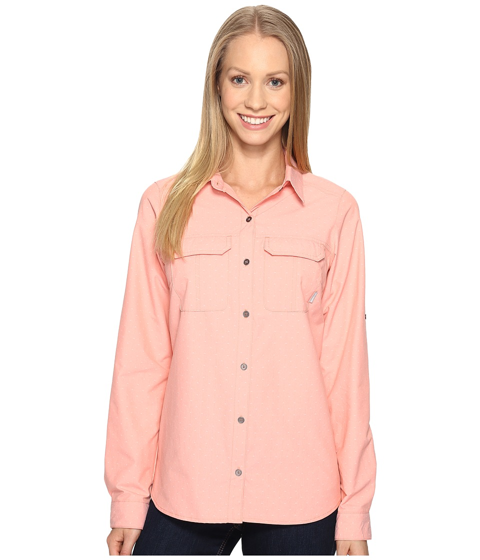 Columbia - Pilsner Peaktm Stripe Long Sleeve Shirt (Lychee Dobby) Women's Long Sleeve Button Up