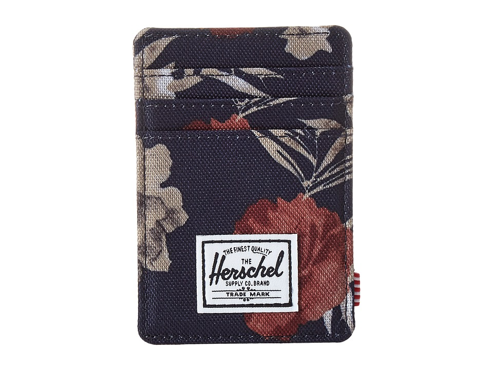 Herschel Supply Co. - Raven (Peacoat Floria) Credit card Wallet