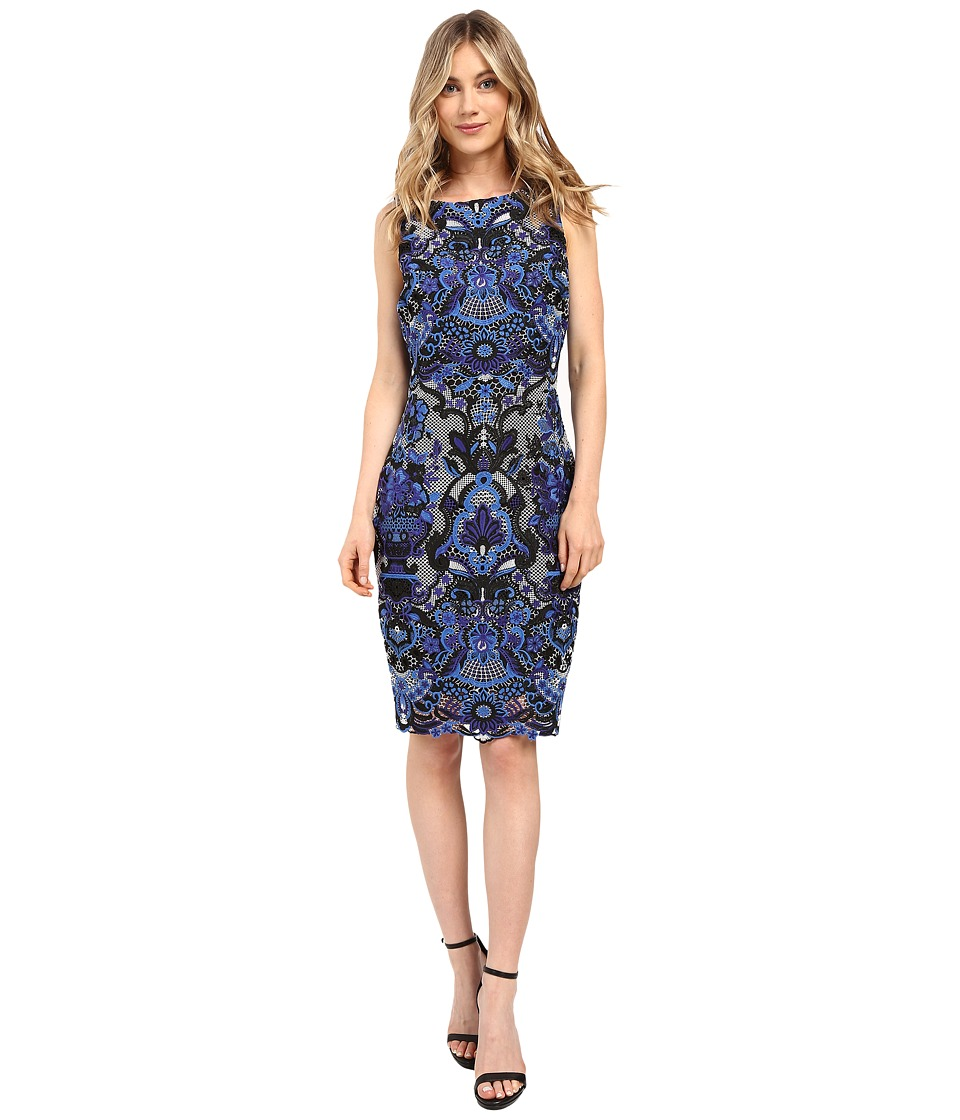 Badgley Mischka - Multicolor Lace Shift (Black Multi) Women's Dress