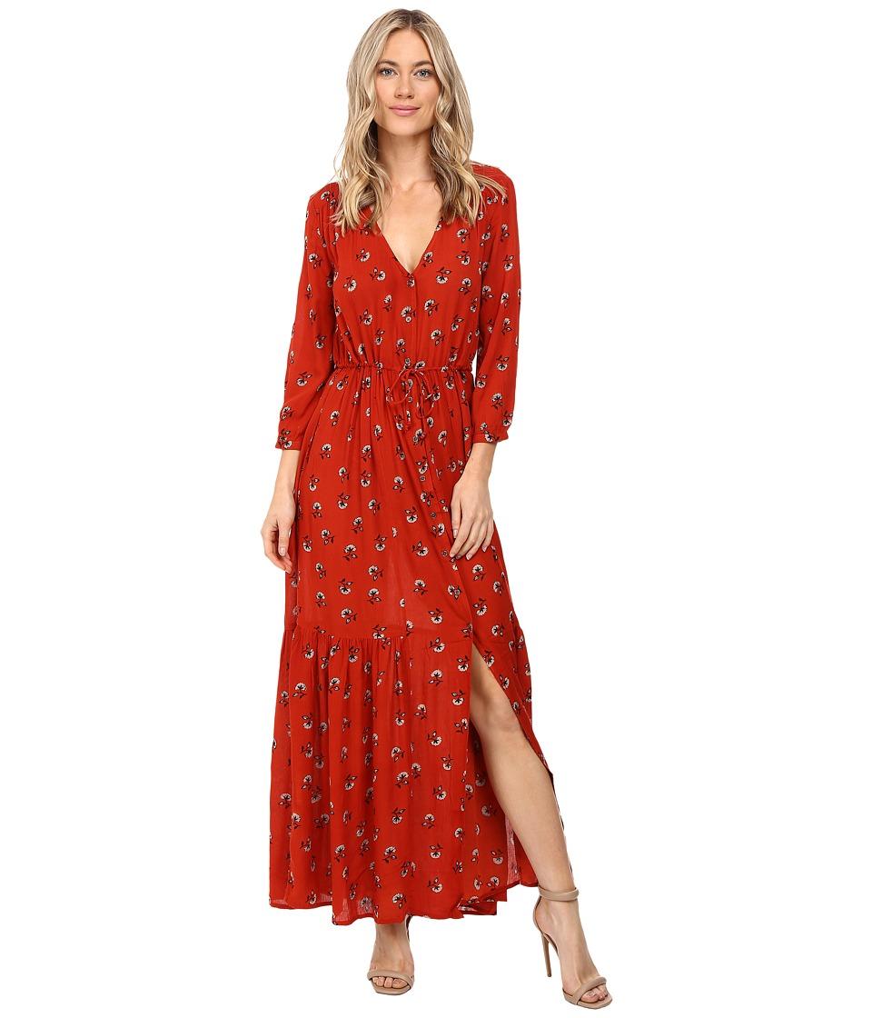 Amuse Society - Kimia Printed Dress (Cayenne) Women's Dress
