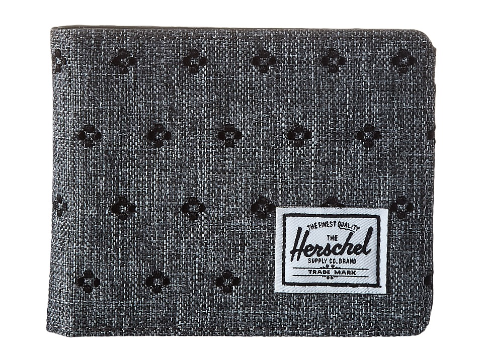 Herschel Supply Co. - Hank (Raven Crosshatch/Black Dots) Wallet Handbags