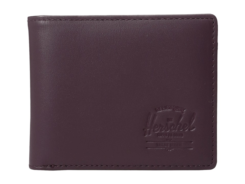 Herschel Supply Co. - Hank Leather (Windsor Wine Textured Leather) Wallet Handbags