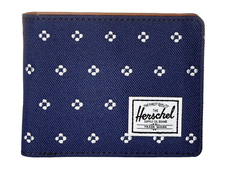 Herschel Supply Co. - Hank (Twilight Blue/White Dots) Wallet Handbags