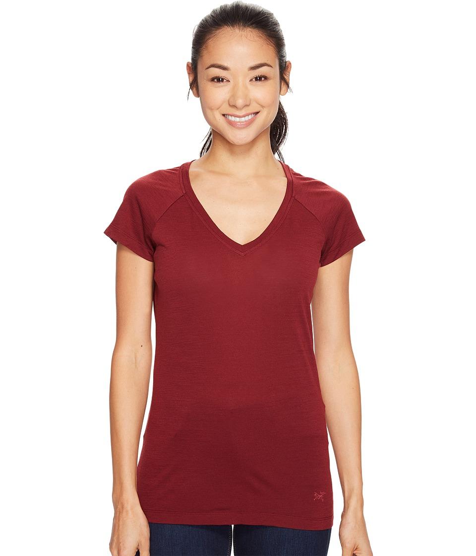 Arc'teryx - A2B V-Neck (Scarlet) Women's Clothing