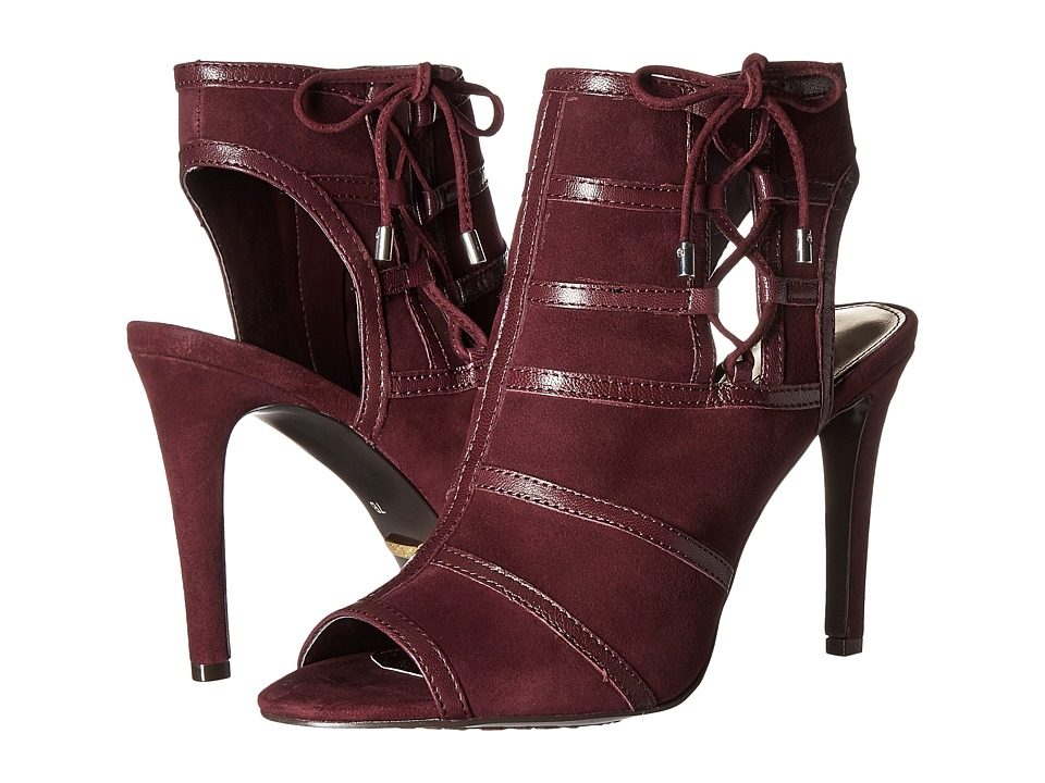 LAUREN Ralph Lauren - Mimi (Claret Kid Suede/Kidskin) Women's Toe Open Shoes