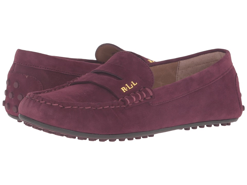 LAUREN Ralph Lauren - Belen (Claret Kid Suede) Women's Shoes