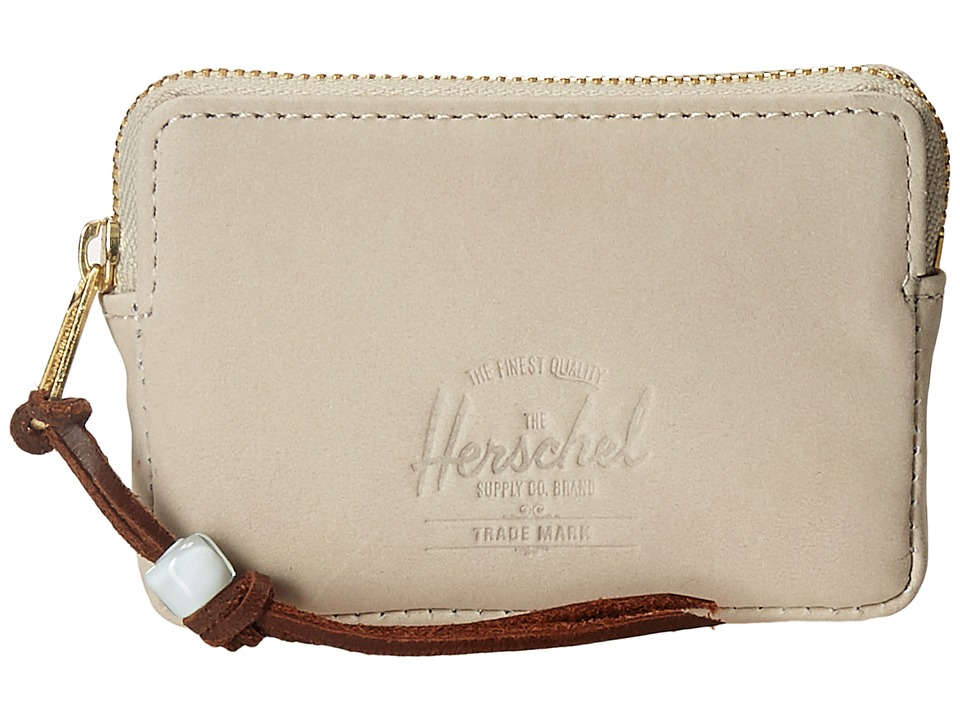 Herschel Supply Co. - Oxford Pouch Leather (Cream Nubuck Leather) Wallet Handbags