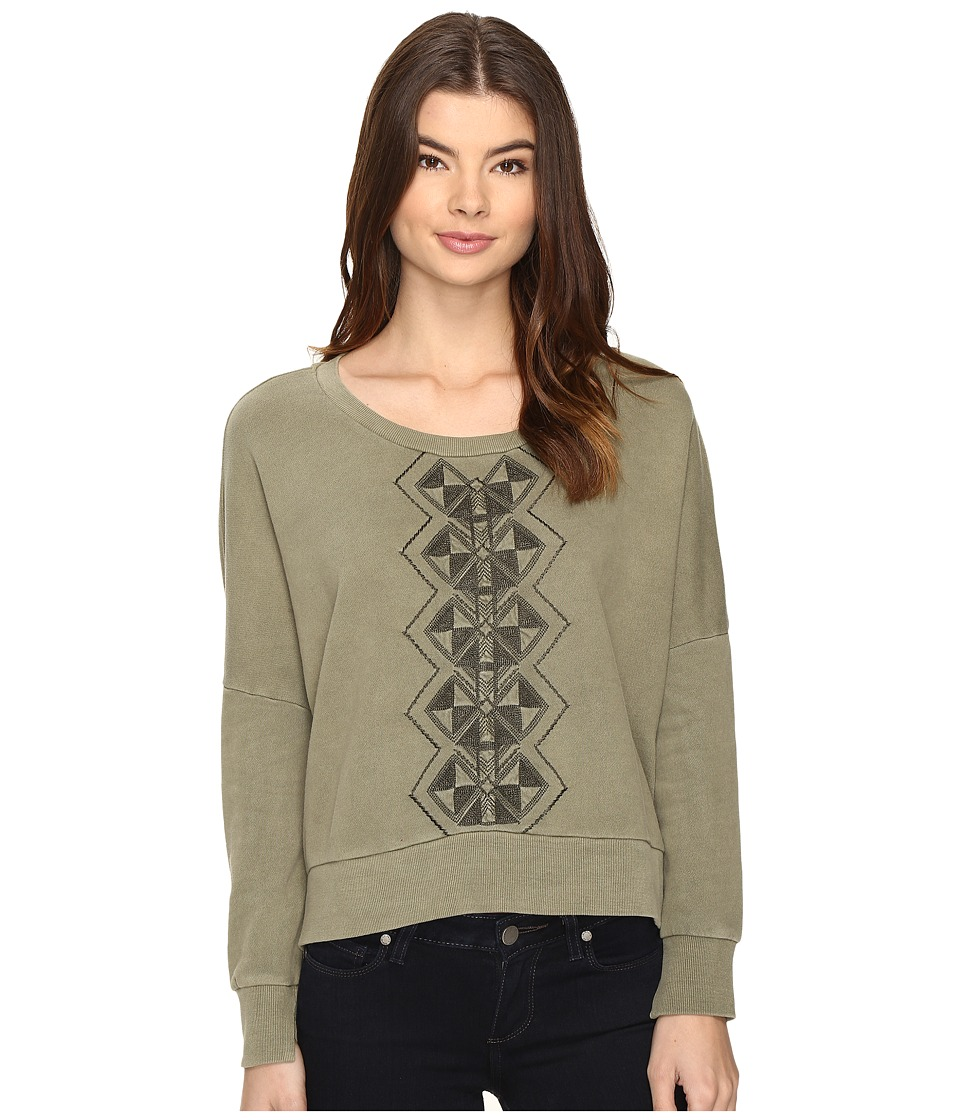 Amuse Society - Rampart Pullover (Army) Women's Sweatshirt