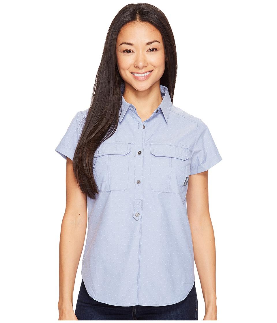Columbia - Pilsner Peak Novelty Short Sleeve Shirt (Bluebell Dobby) Women's Short Sleeve Pullover