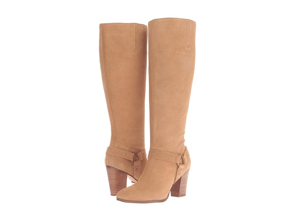 LAUREN Ralph Lauren Fareeda (Camel Sport Suede) Women's Pull-on Boots