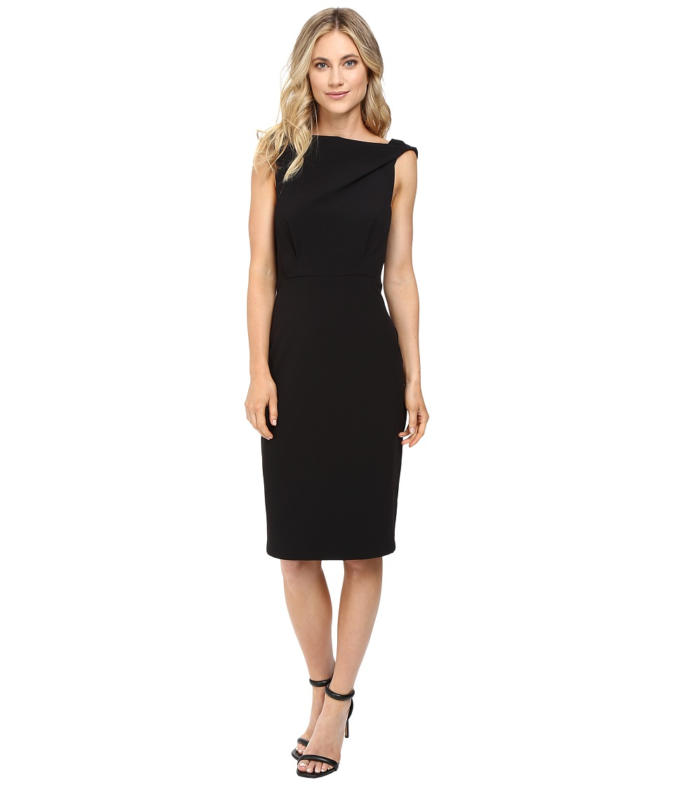 Badgley Mischka - Blouson Sheath (Black) Women's Dress
