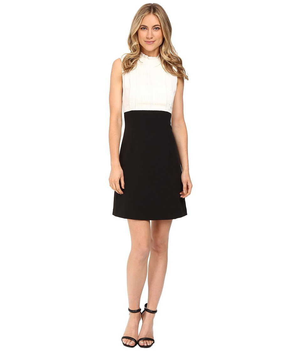 Donna Morgan - Sleeveless Mock Neck Dress (Cotaintail/Black) Women's Dress