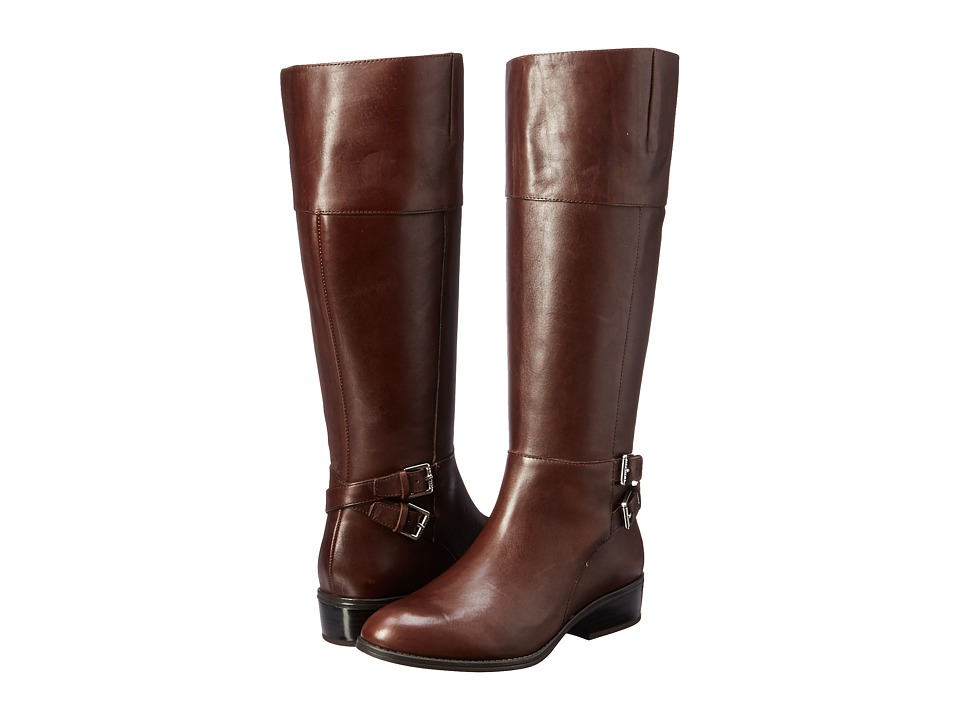 LAUREN Ralph Lauren Marba Dark Brown-Dark Brown Burnished Calf Womens Boots