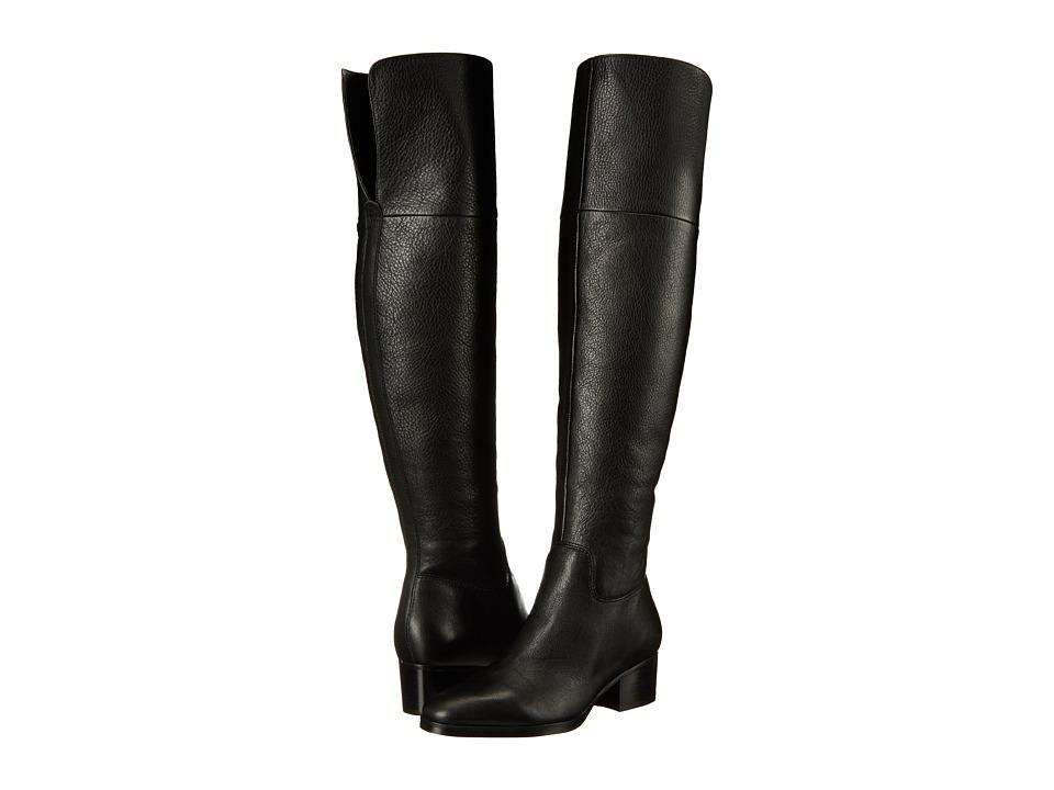 LAUREN Ralph Lauren - Dallyce (Black Tumbled Matte Sport Grain) Women's Pull-on Boots