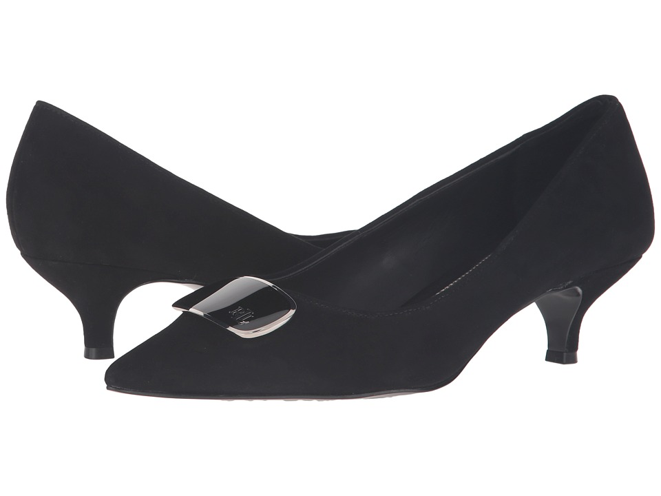 LAUREN Ralph Lauren - Abina (Black Kid Suede) Women's Shoes