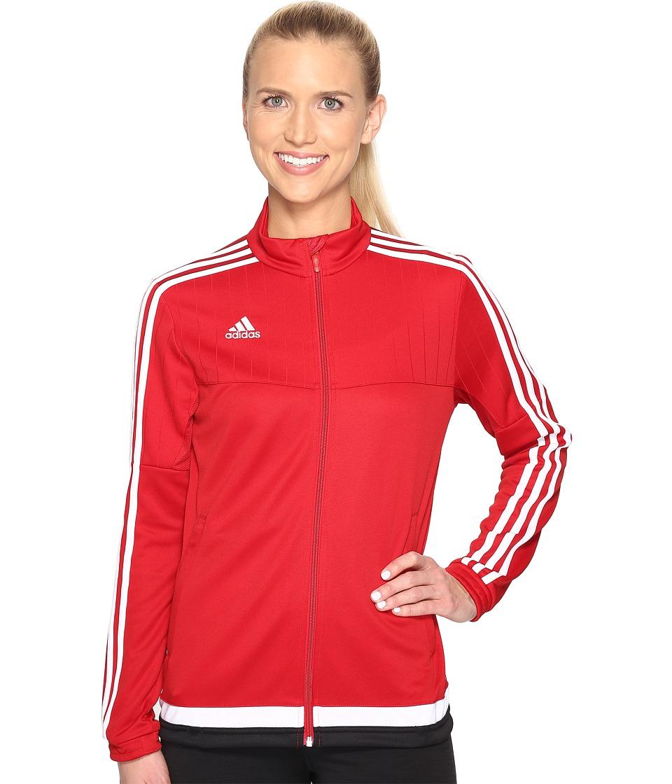 adidas - Tiro 15 Training Jacket (Power Red/White/Black) Women's Workout