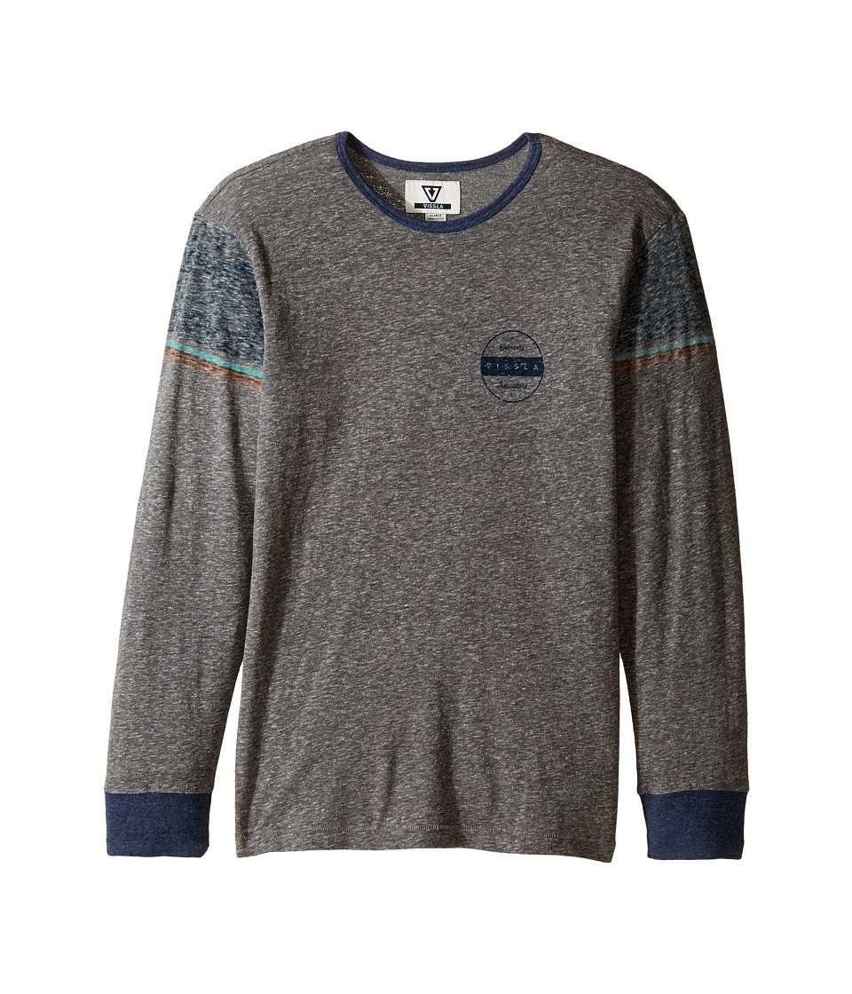 VISSLA Kids - Striker Long Sleeve Tri-Blend Knit (Big Kids) (Dark Grey Heather) Boy's Clothing